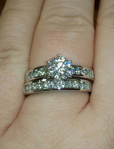 My Husband And I Purchased Moissanite Wedding Set 2 Years Ago Am Still So In Love With It Pictures Don T Do Justice But Thought This Was A